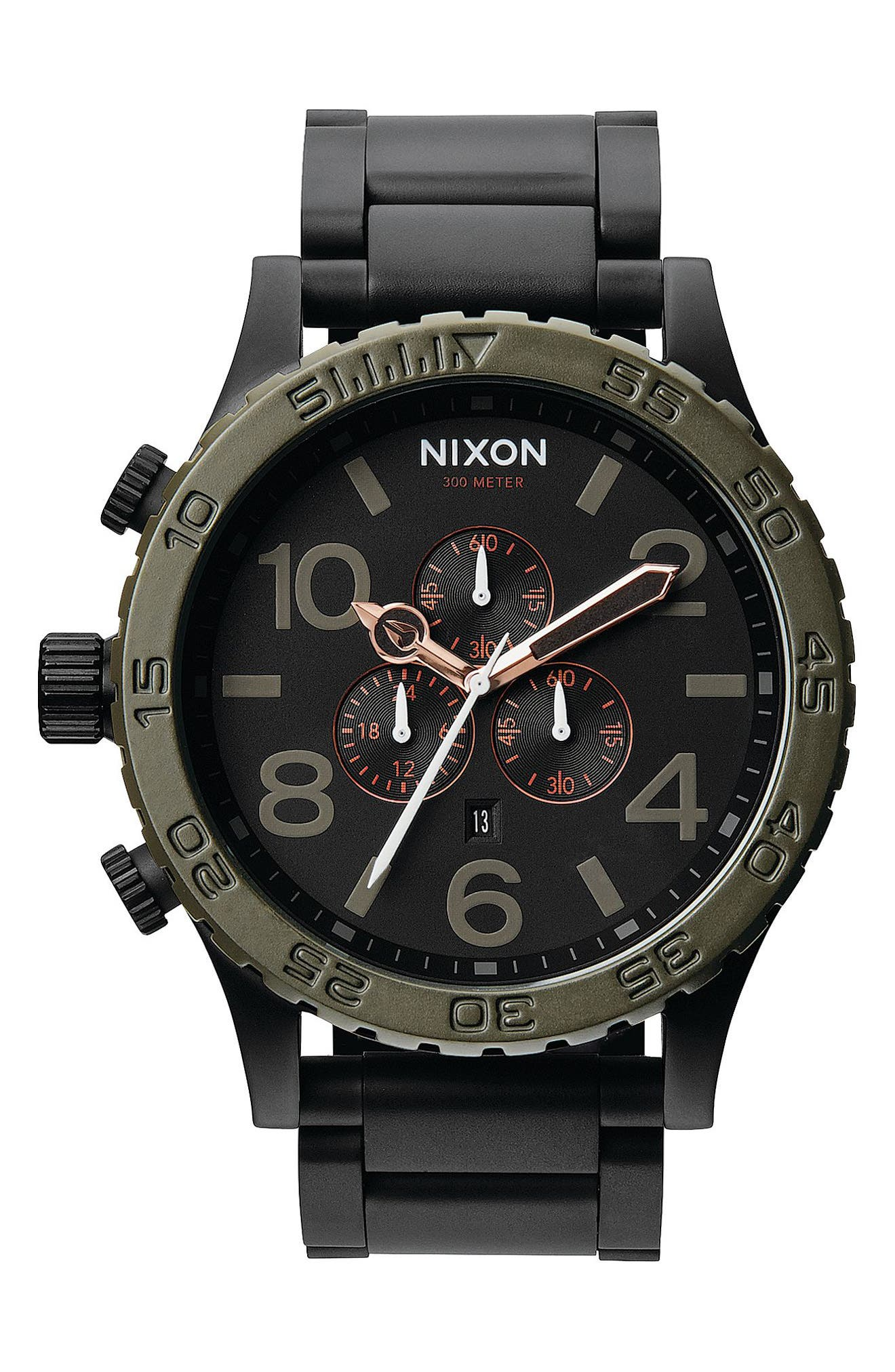,                             'The 51-30 Chrono' Watch, 51mm,                             Main thumbnail 8, color,                             004