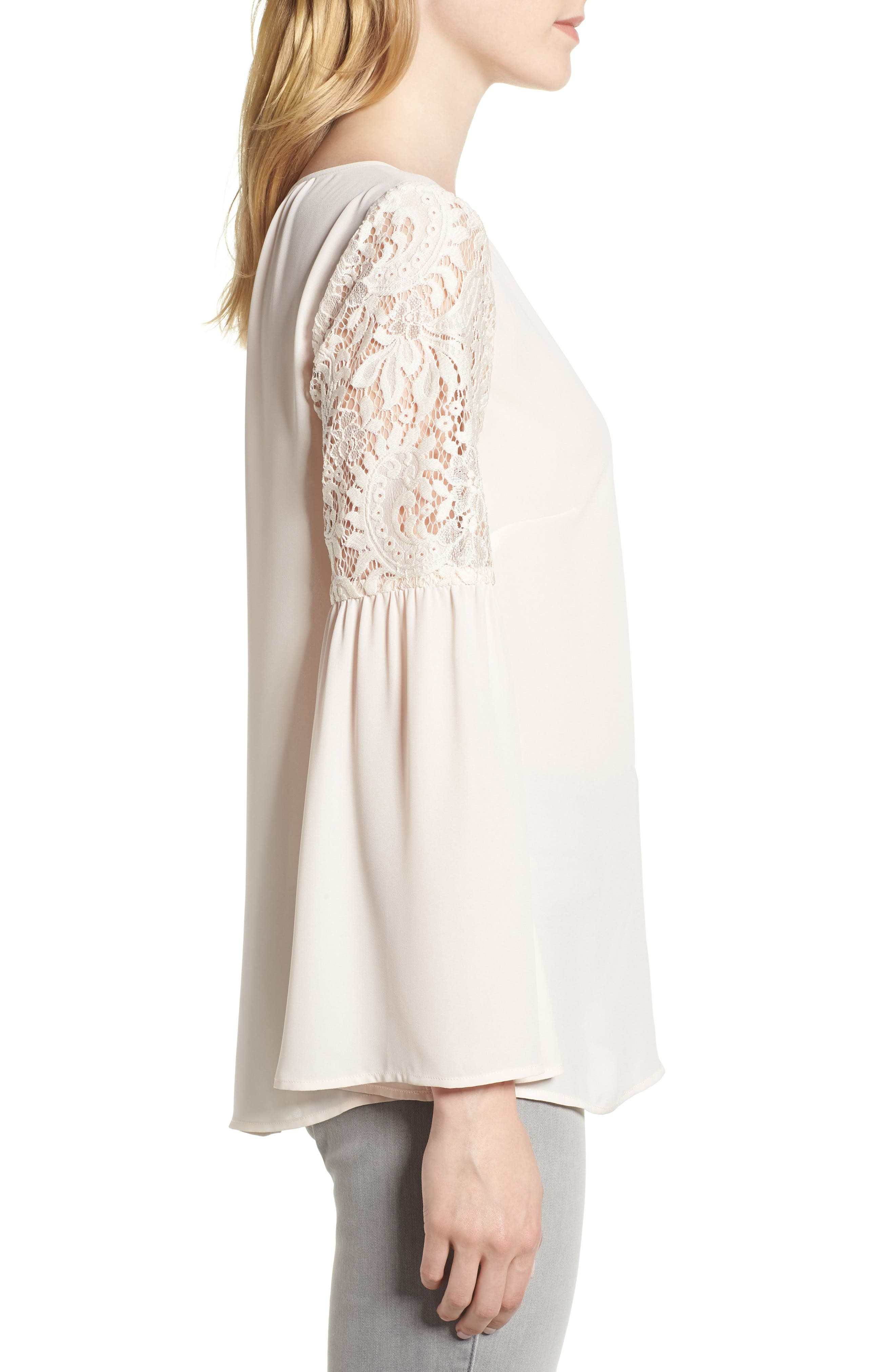 ,                             Lace Bell Sleeve Top,                             Alternate thumbnail 34, color,                             681