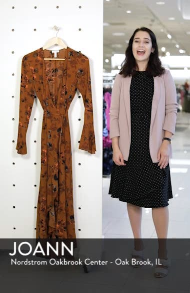 Bell Sleeve Wrap Midi Dress, sales video thumbnail