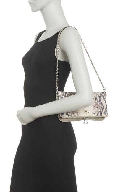 Image of Zadig & Voltaire Rock Savage Embossed Snake Skin Crossbody Bag