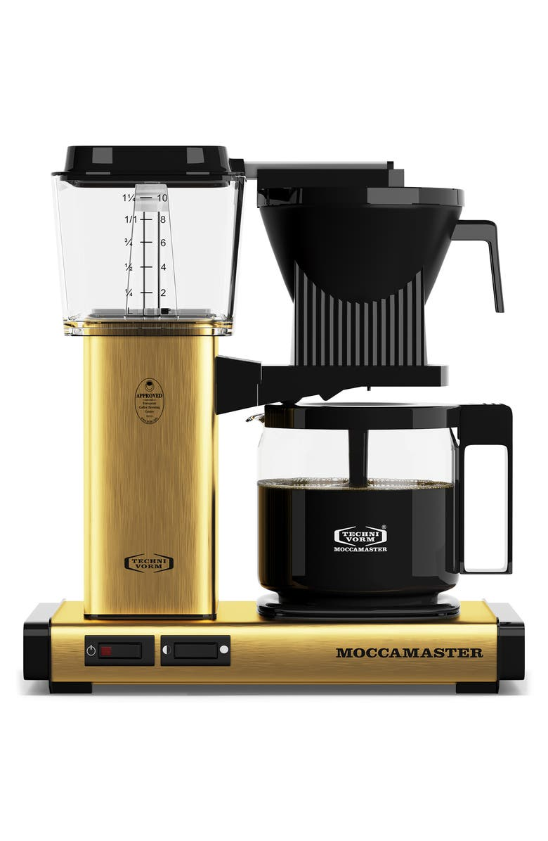 MOCCAMASTER KBG Coffee Brewer, Main, color, BRUSHED BRASS