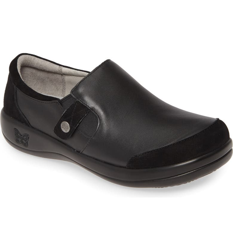 ALEGRIA Paytin Loafer, Main, color, BLACK LEATHER