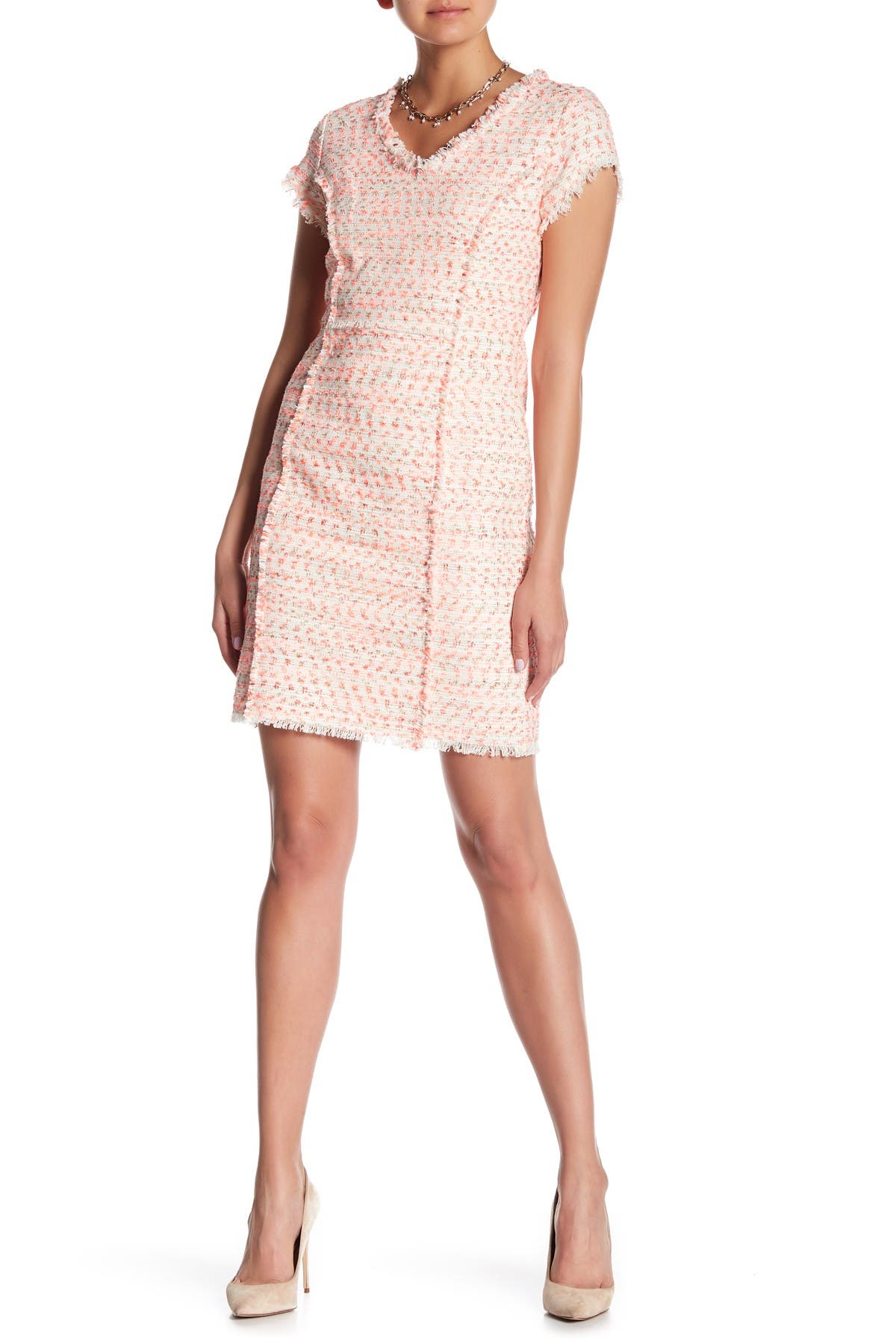 Image of NANETTE nanette lepore Frayed Trim Boucle Dress