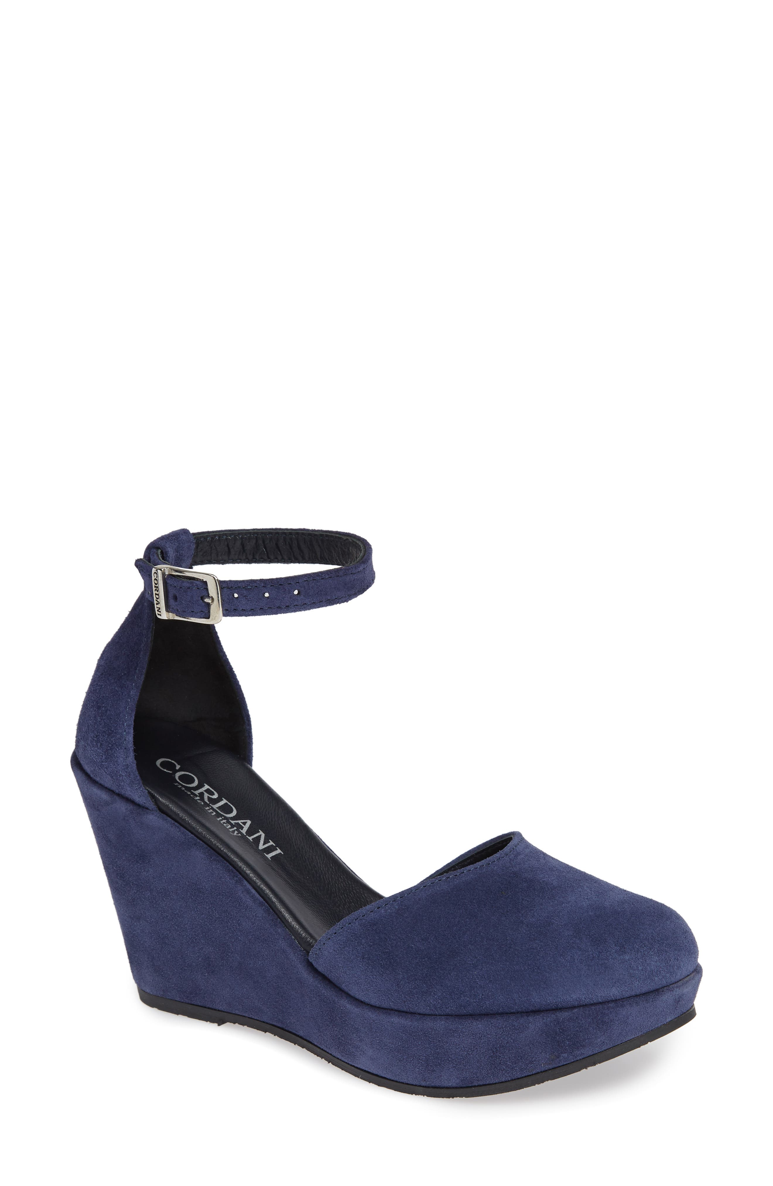 Cordani Robbins Wedge Pump - Blue