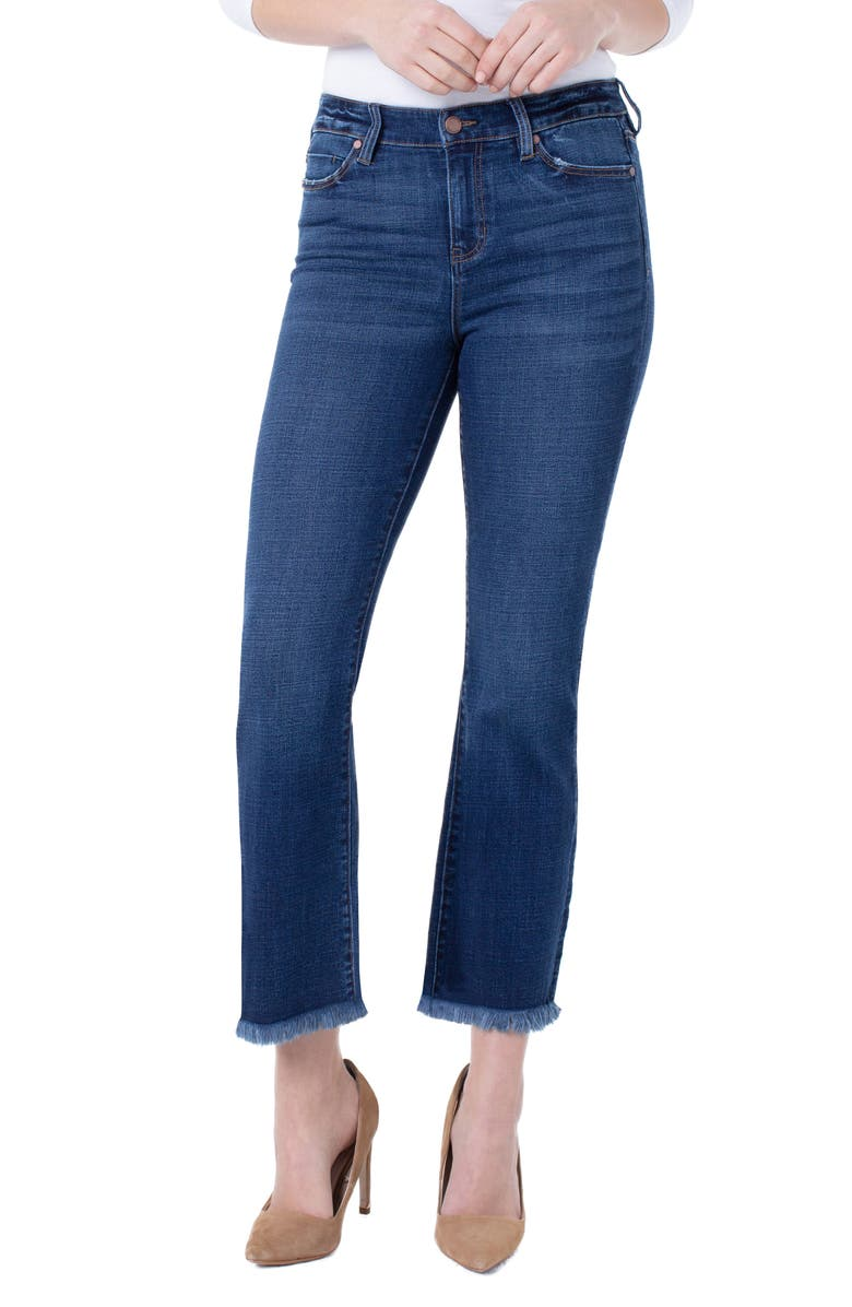 LIVERPOOL Luck Flare Jeans, Main, color, MISSOULA