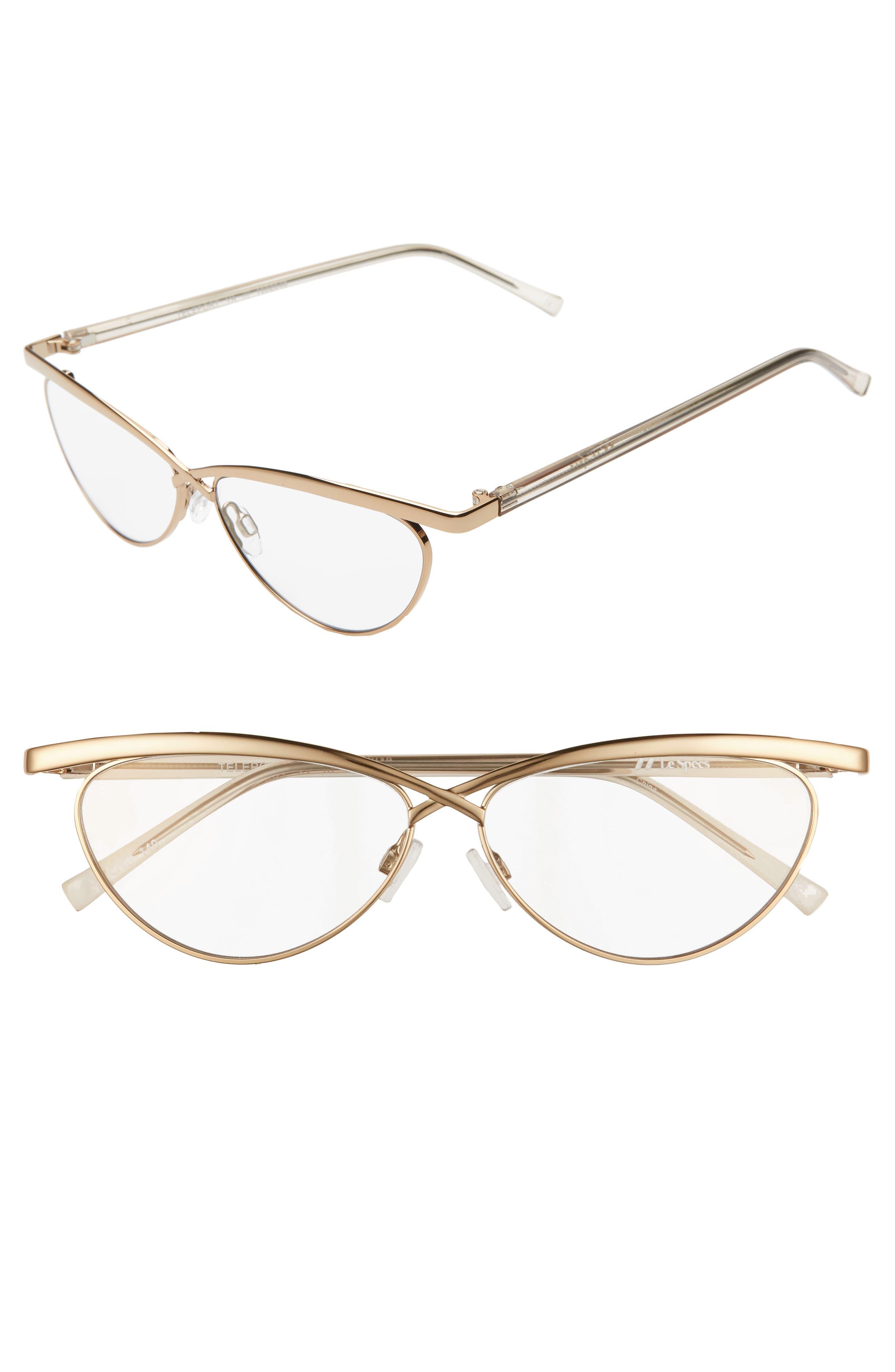 Le Specs Teleport Ya 57Mm Cat Eye Sunglasses - Gold/ Light Grey