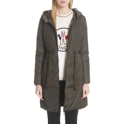 Moncler Bruant Down Hooded Coat, Green