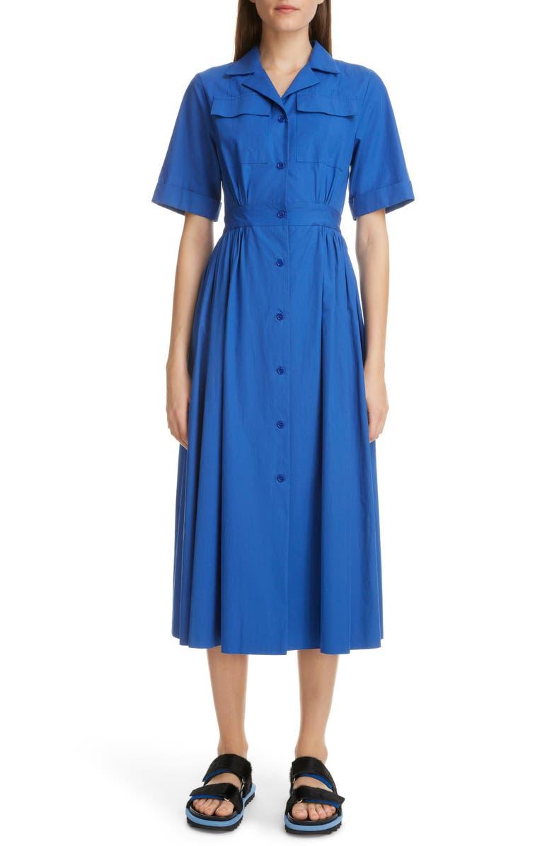 DRIES VAN NOTEN Dolima Cotton Shirtdress, Main, color, 400