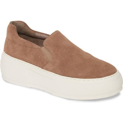 Jslides Cleo Platform Slip-On Sneaker, Brown