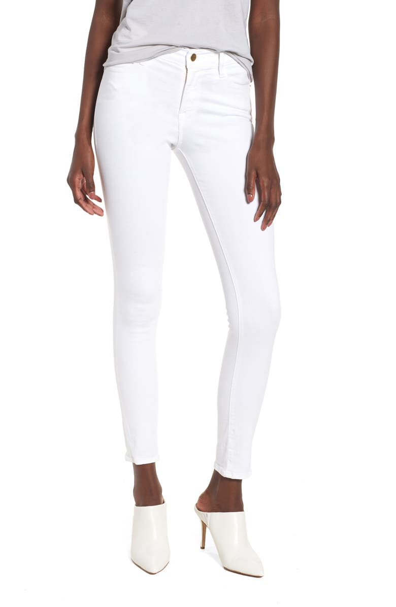 FRAME Le High Skinny Jeans, Main, color, BLANC