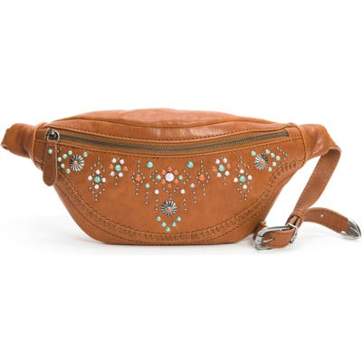 Frye Concho Studded Leather Belt Bag - Brown