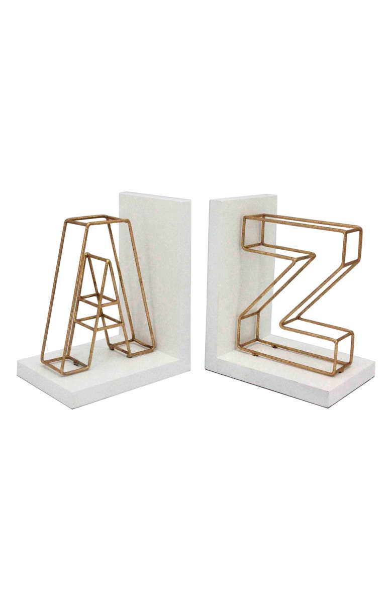 CRYSTAL ART GALLERY A to Z Bookends, Main, color, 710