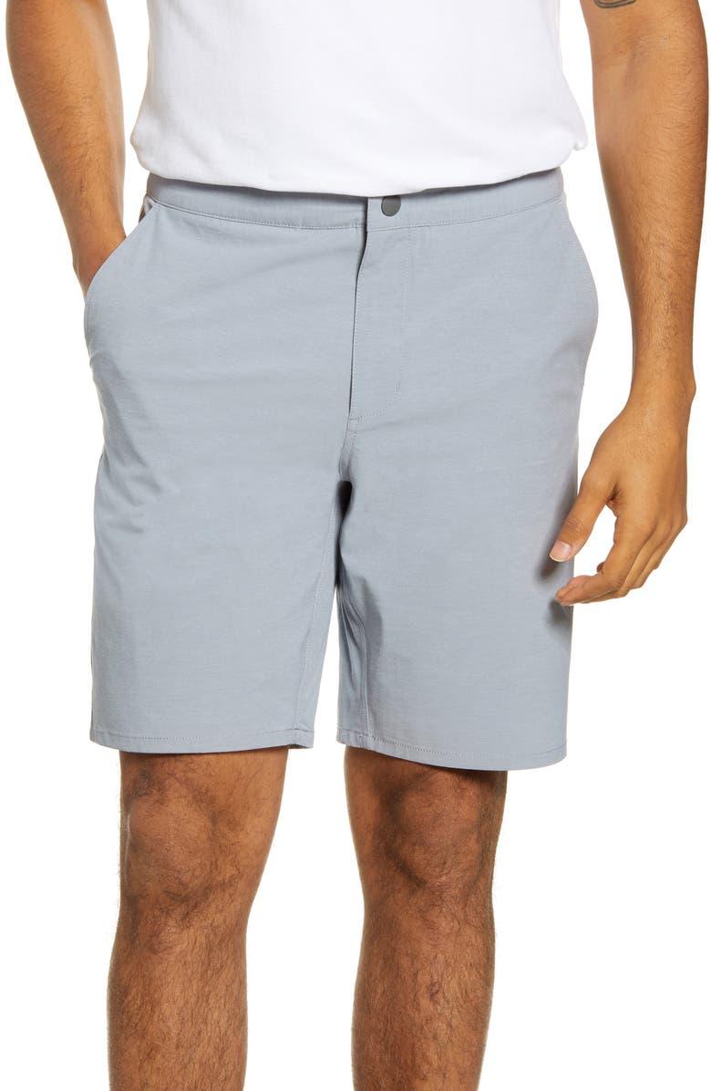 JOHNNIE-O Dawn 2 Dusk Hybrid Shorts, Main, color, CLOUDBREAK