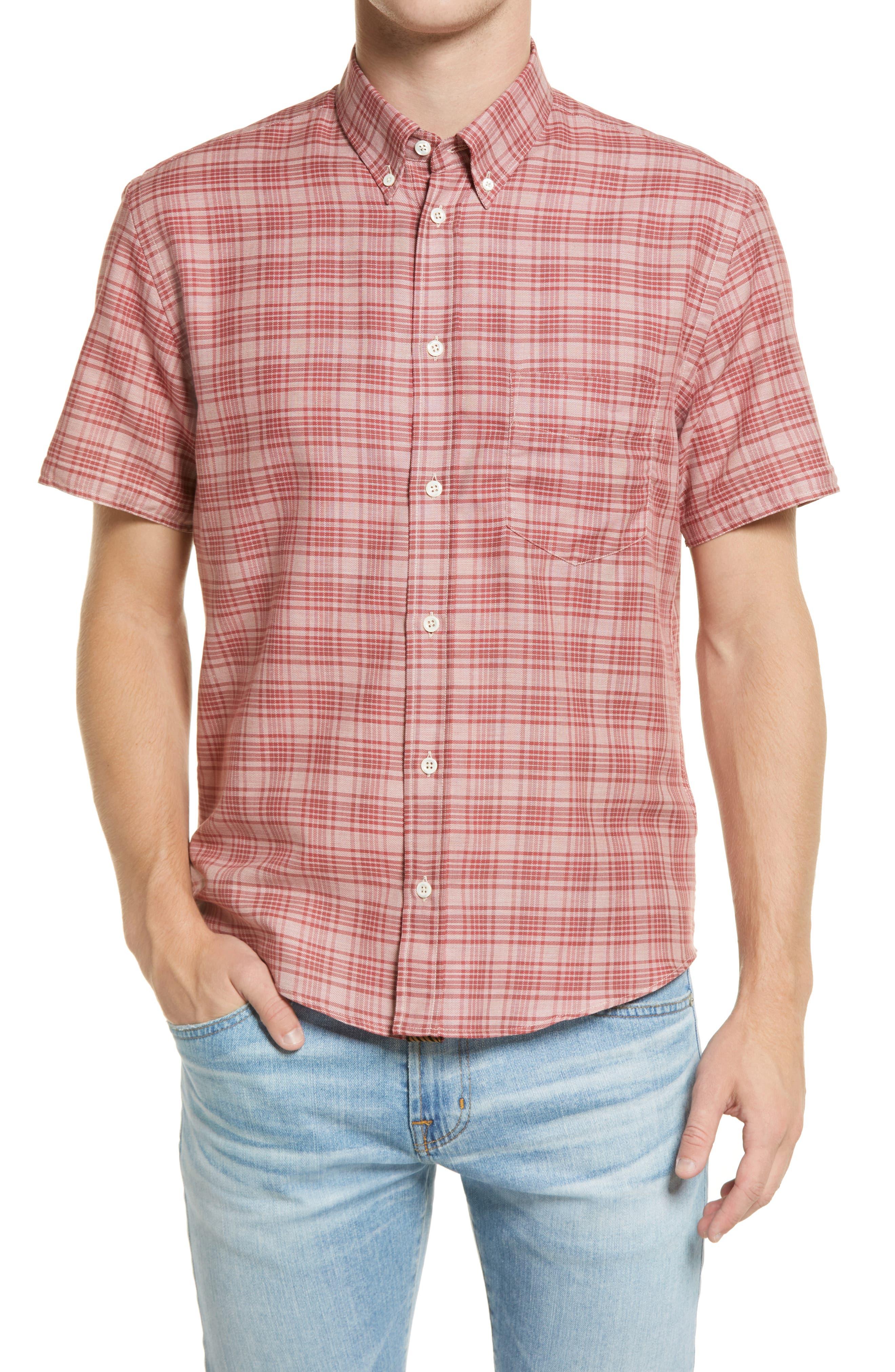 Kirby Slim Fit Plaid Short Sleeve Button-Down Shirt
