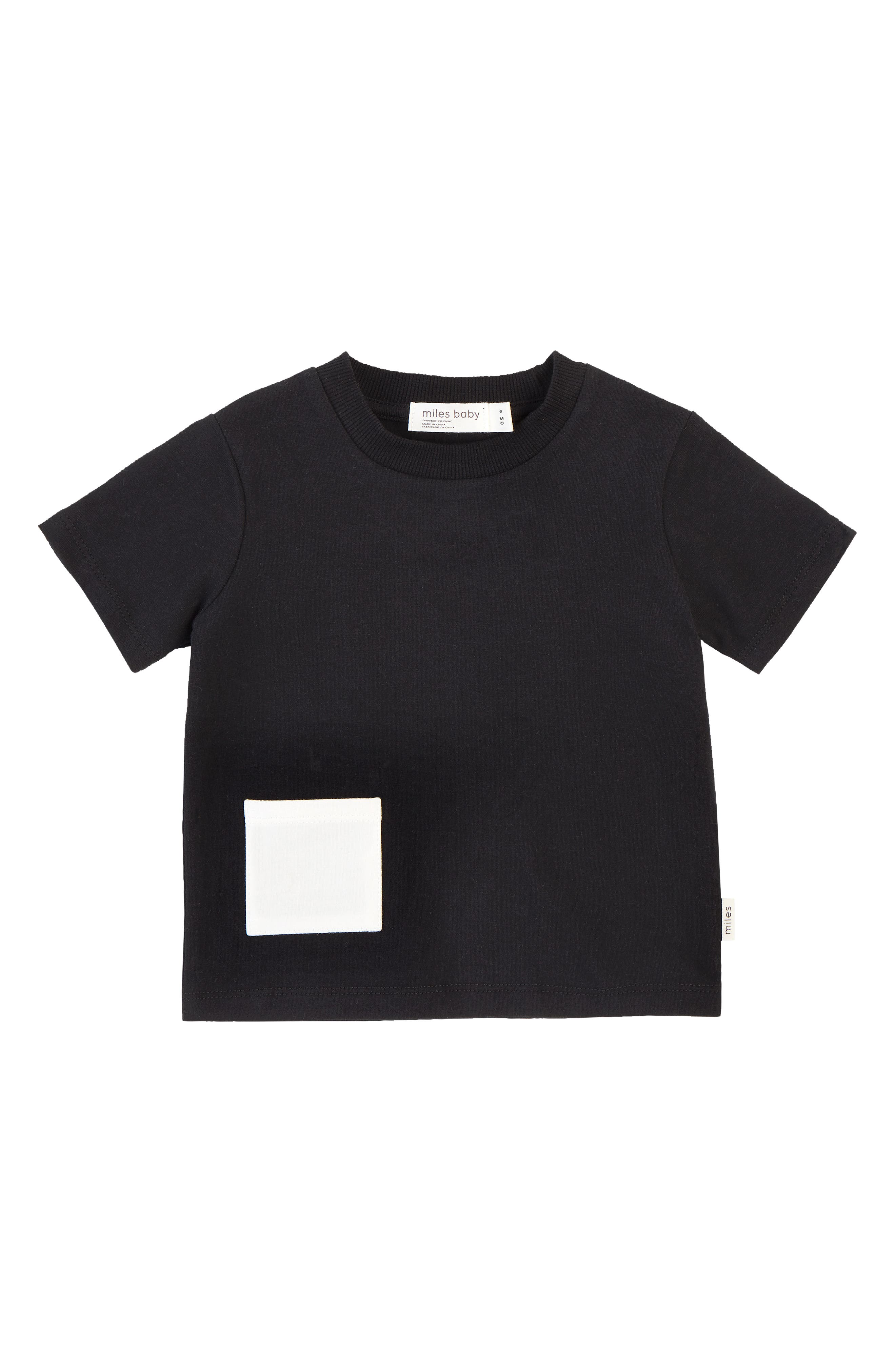 This classic crewneck featuring a contrast patch pocket is cut from soft, stretchy organic cotton and is an essential building block to any great wardrobe. Style Name: Miles Baby Pocket T-Shirt (Toddler & Little Boy). Style Number: 6004562. Available in stores.