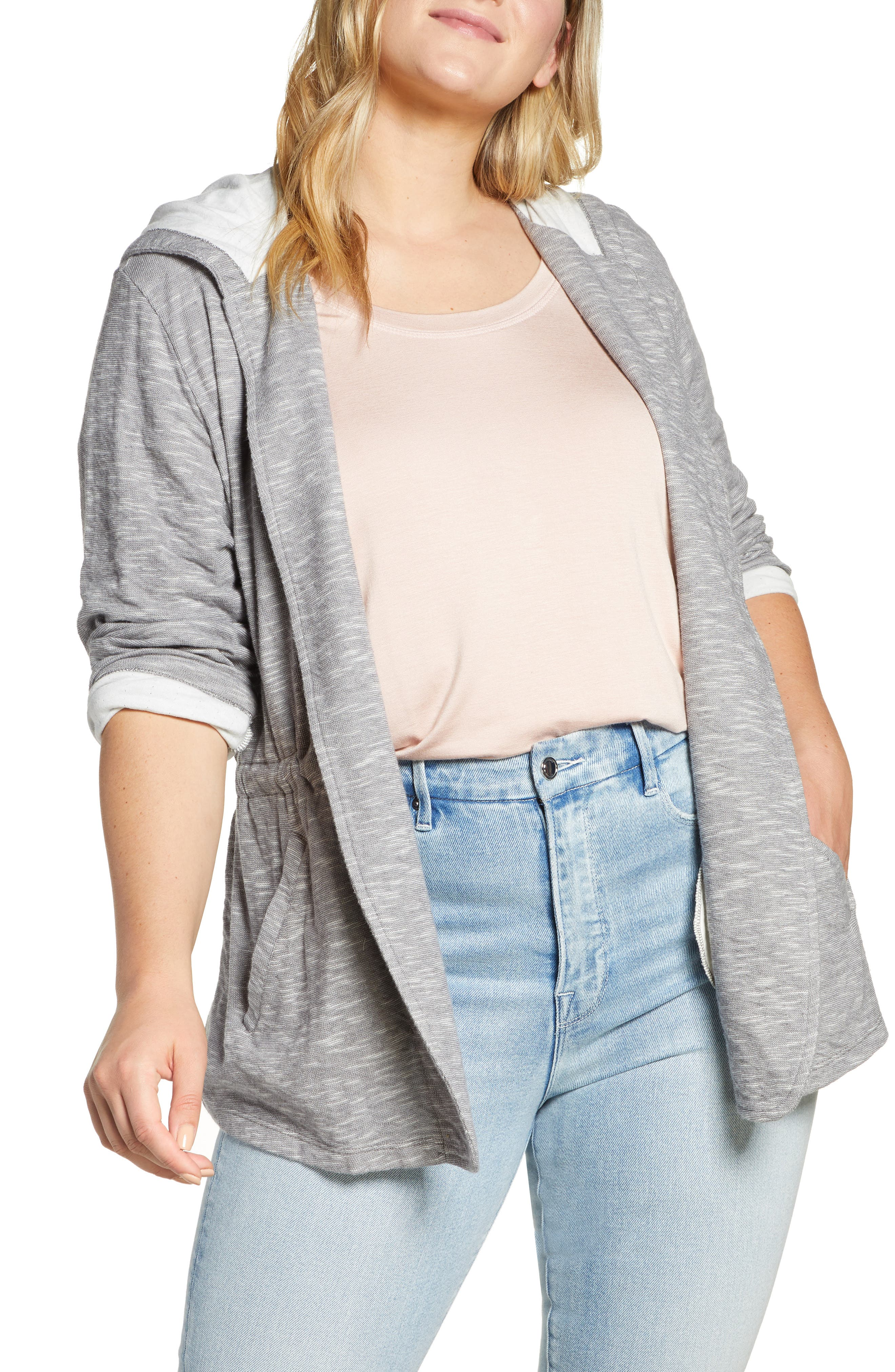 ,                             Open Front Hooded Cardigan,                             Alternate thumbnail 10, color,                             030