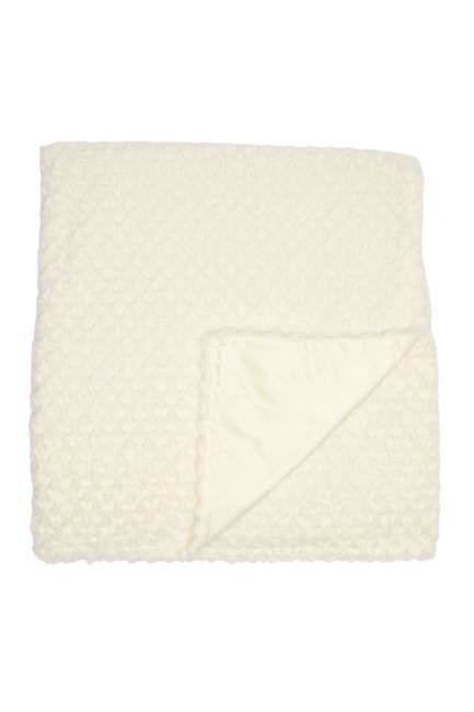 Image of Nordstrom at Home Diamond Textured Faux Fur Throw