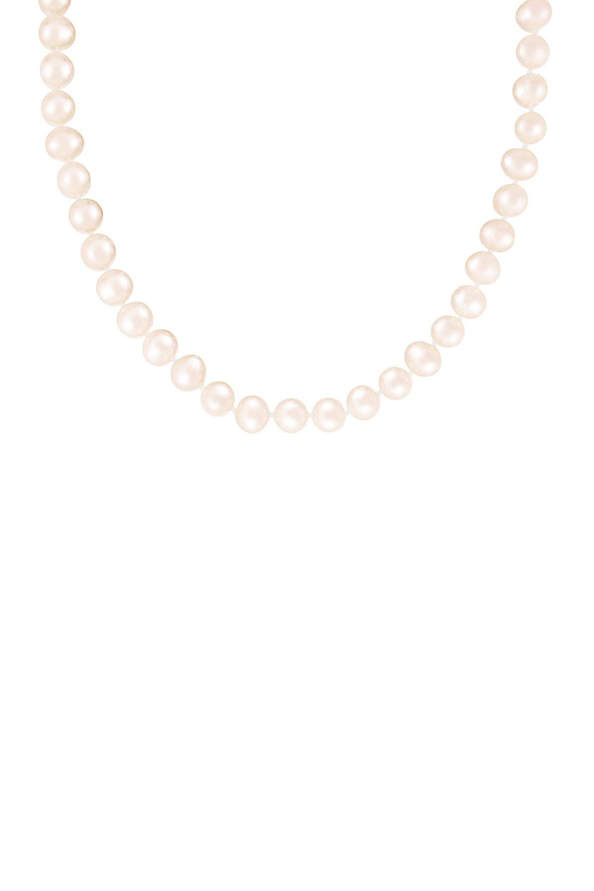 Image of Splendid Pearls Sterling Silver 10-11mm Freshwater Pearl Necklace