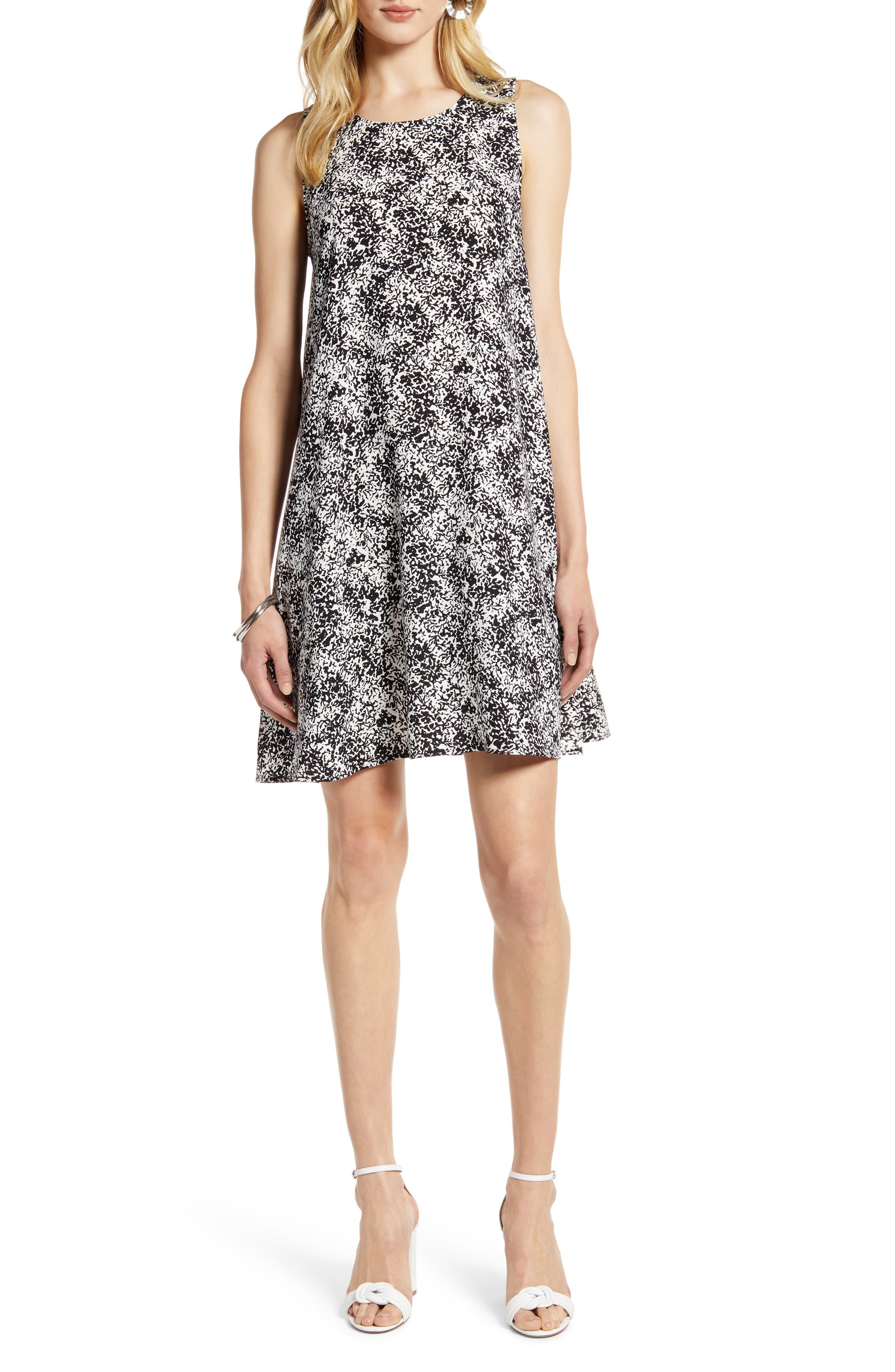 Petite Halogen A-Line Dress, Black