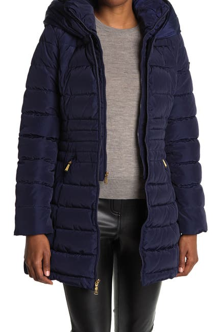 Image of Laundry By Shelli Segal Bibbed Puffer Jacket