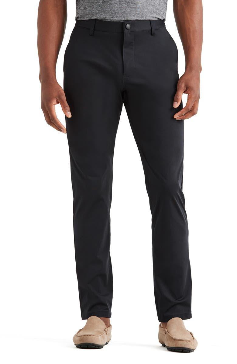 RHONE Flat Front Commuter Pants, Main, color, BLACK