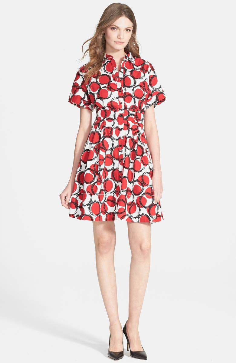 KATE SPADE NEW YORK 'stamped dots' shirtdress, Main, color, 627