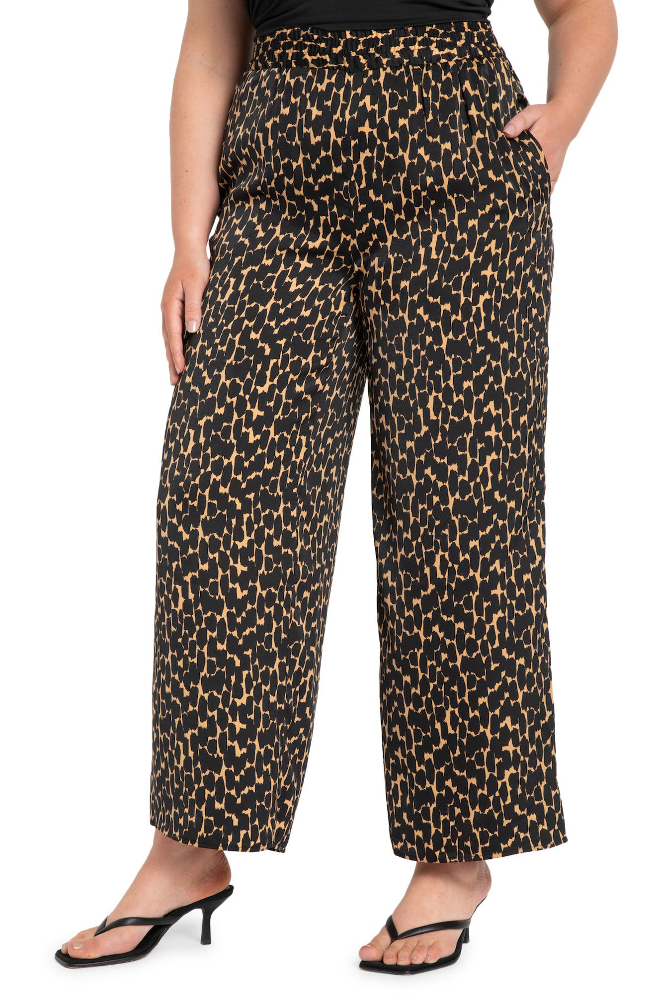 Wide Leg Pull On Pants