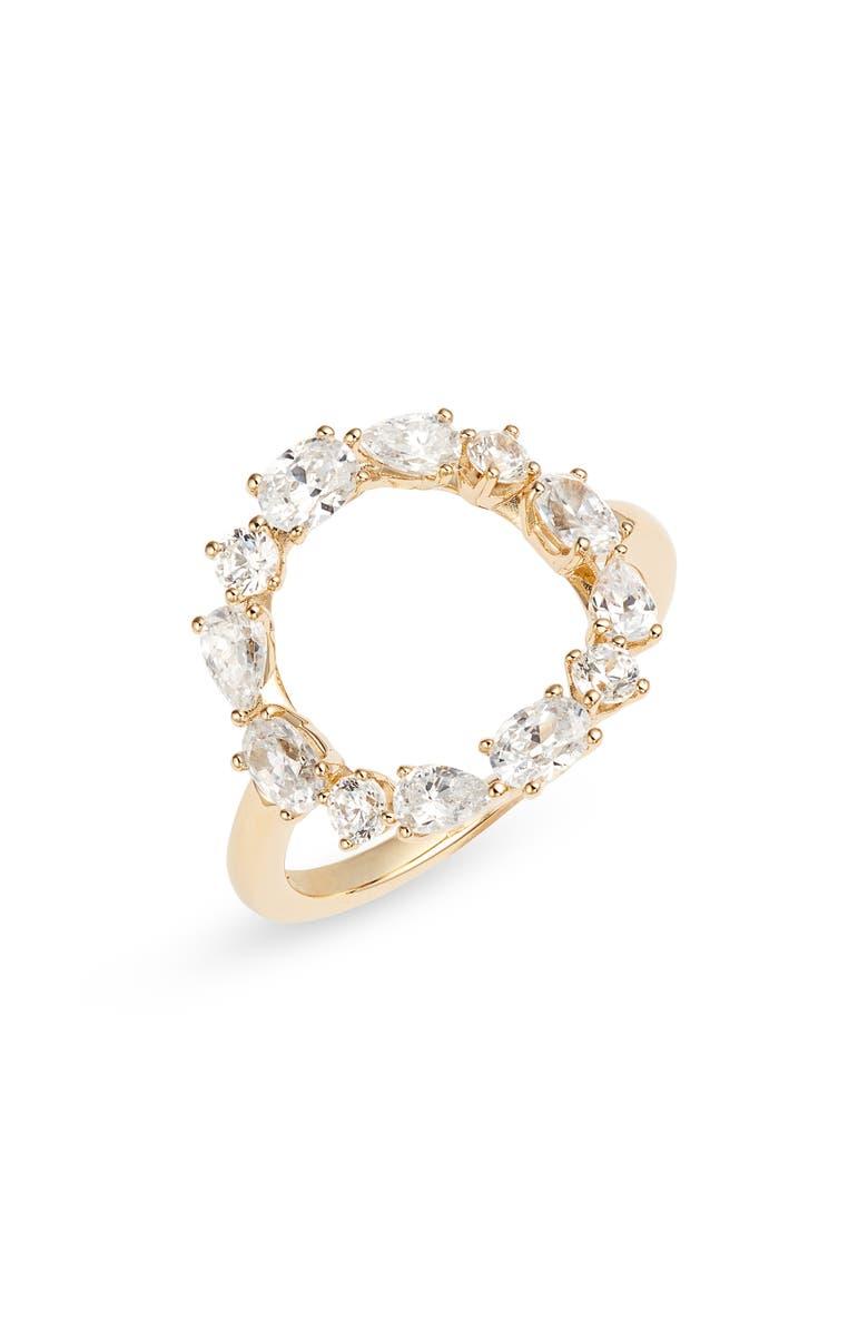 NADRI Gala Open Circle Ring, Main, color, GOLD