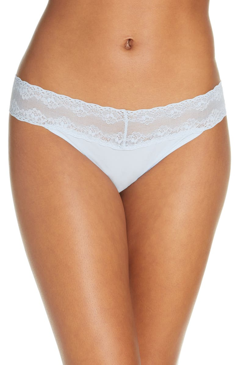 NATORI Bliss Perfection Thong, Main, color, DUSTY BLUE