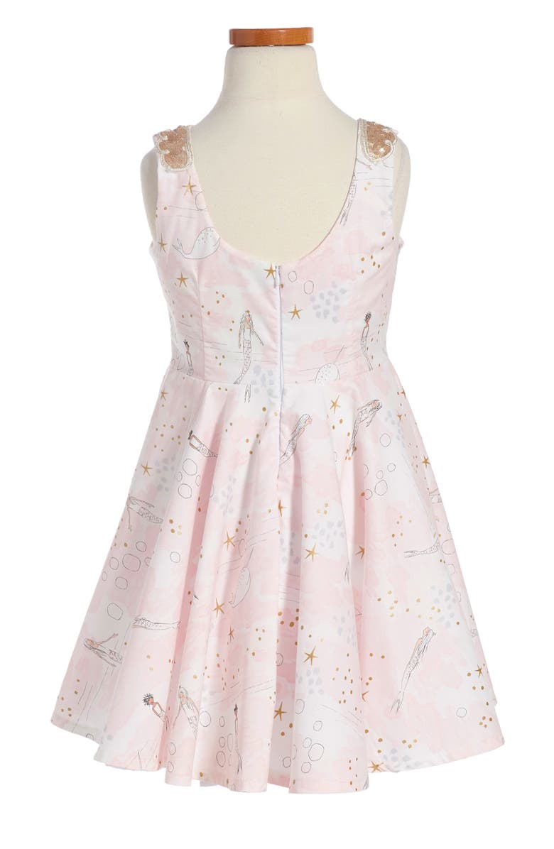 FIVELOAVES TWOFISH The Little Mermaid Dress, Main, color, PINK/GOLD