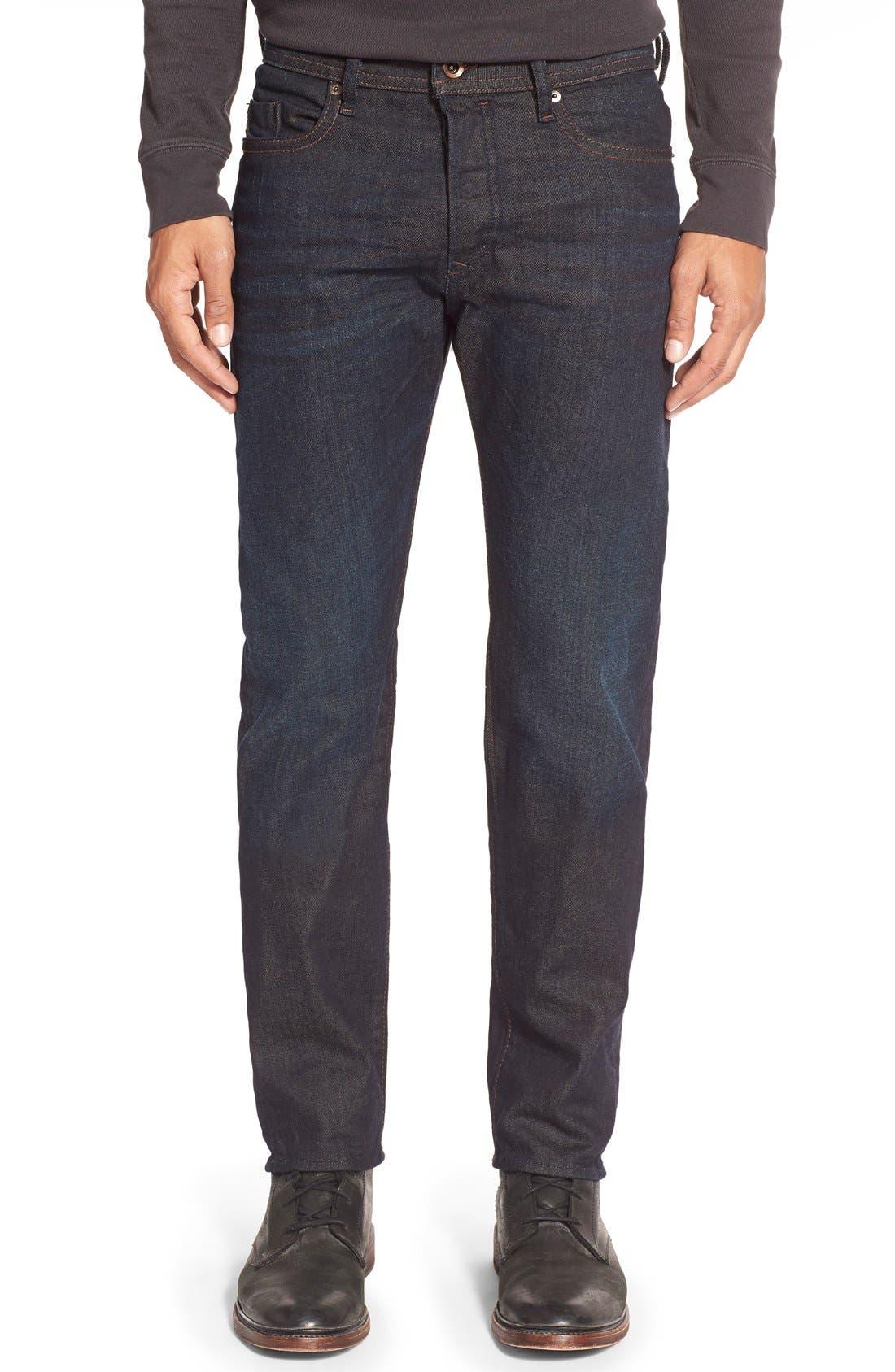 ,                             'Buster' Slim Straight Leg Jeans,                             Main thumbnail 1, color,                             400