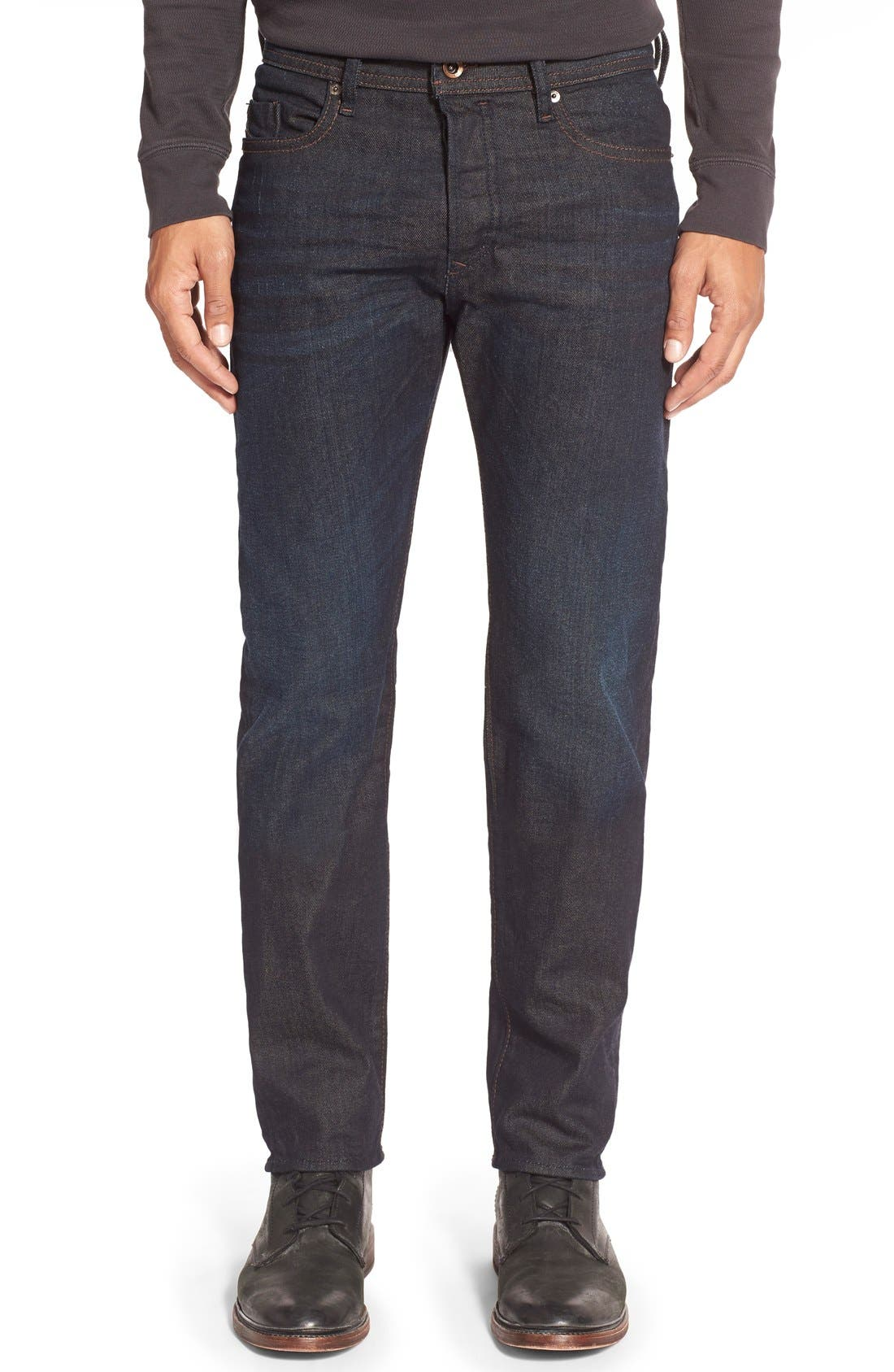 'Buster' Slim Straight Leg Jeans, Main, color, 400