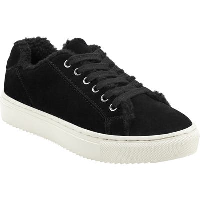 Marc Fisher Ltd Dakari Faux Fur Lined Sneaker, Black