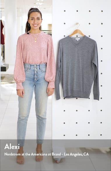 Crown Wool & Silk V-Neck Sweater, sales video thumbnail