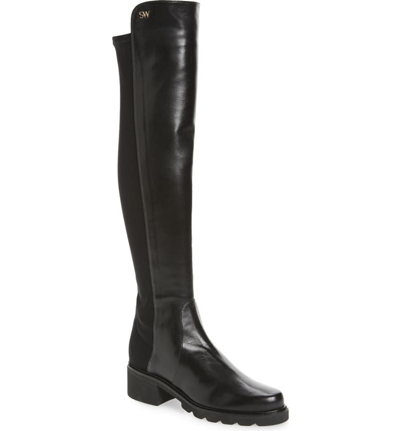 Alina Over The Knee Boot Stuart Weitzman Over The Knee Boots Leather Shoes