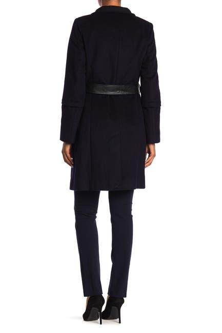 Image of Via Spiga Wool Blend Waist Tie Coat
