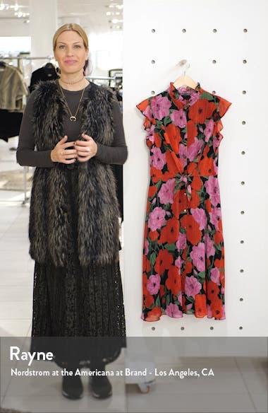 Floral Flutter Sleeve Fit & Flare Dress, sales video thumbnail