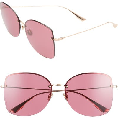 Dior Stell 62Mm Special Fit Oversize Rimless Sunglasses - Gold Copp/ Red