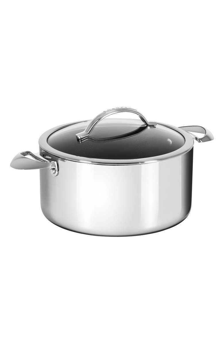 SCANPAN HaptIQ 7.5-Quart Stainless Steel Dutch Oven, Main, color, SILVER
