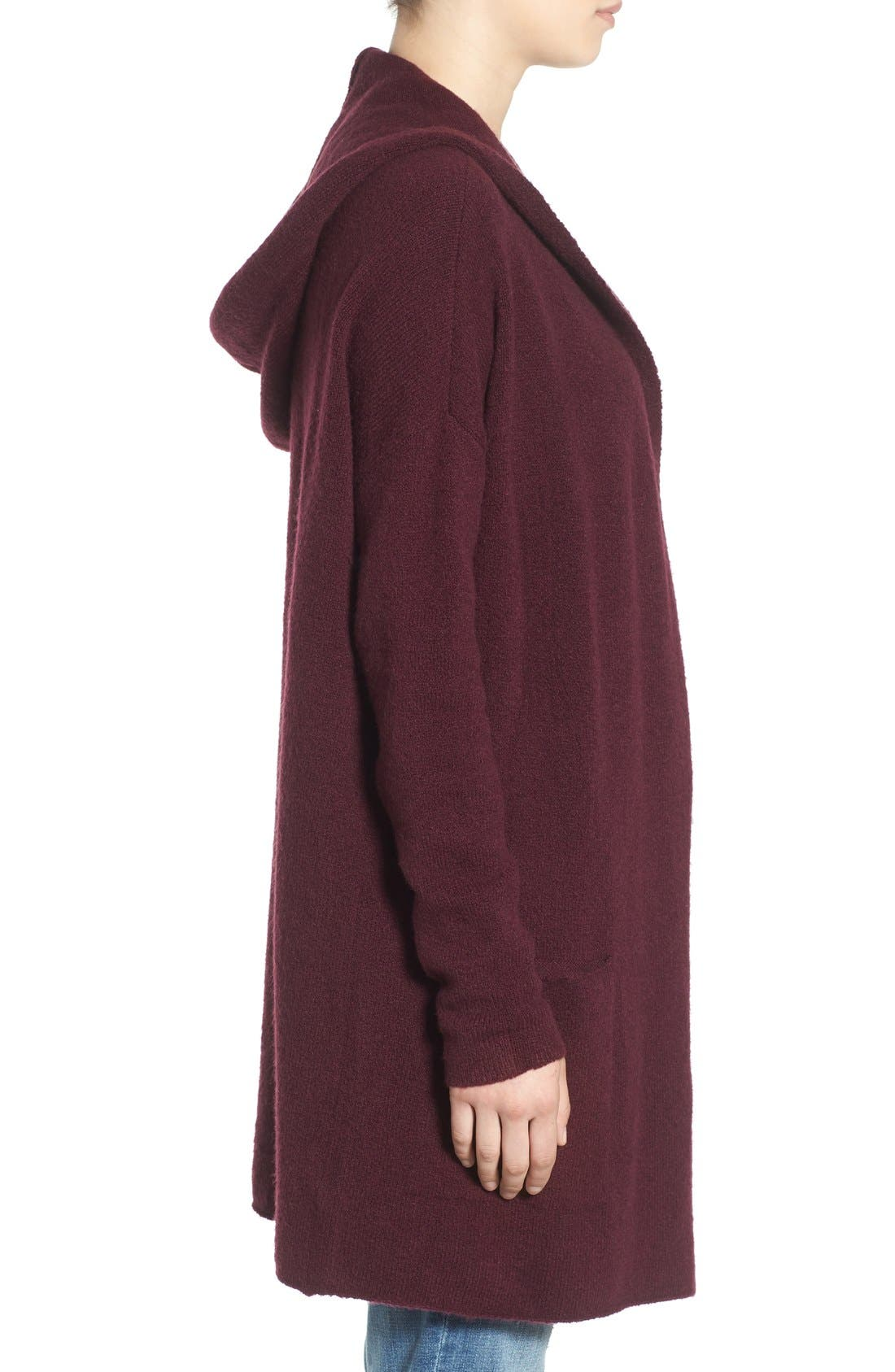 ,                             Hooded Longline Cardigan,                             Alternate thumbnail 12, color,                             930