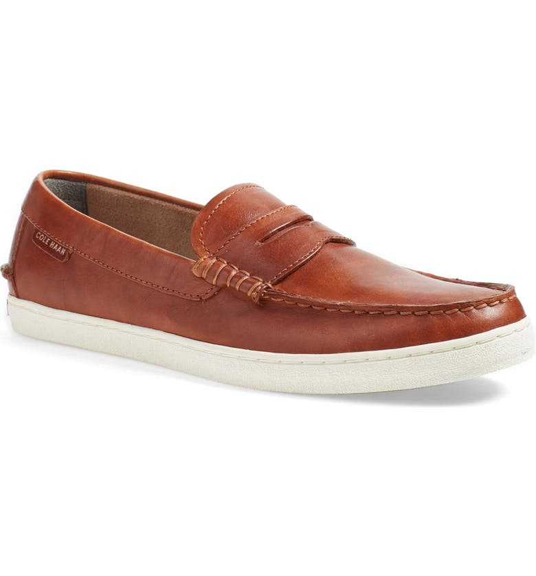 COLE HAAN 'Pinch' Penny Loafer, Main, color, BRITISH TAN ANTIQUE LEATHER