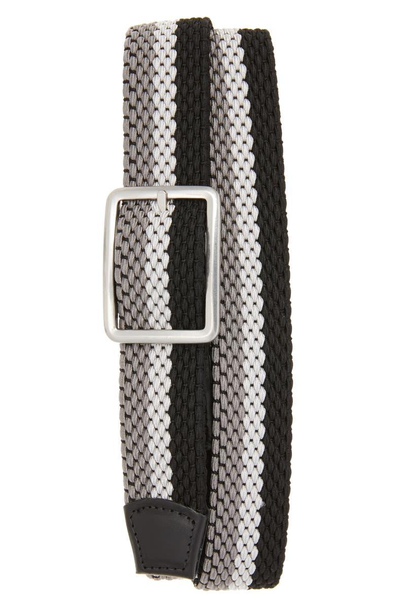 TORINO Tri Stripe Reversible Woven Belt, Main, color, 093