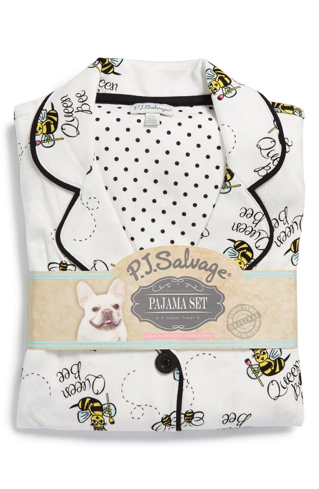 ,                             Print Jersey Pajamas,                             Alternate thumbnail 10, color,                             100