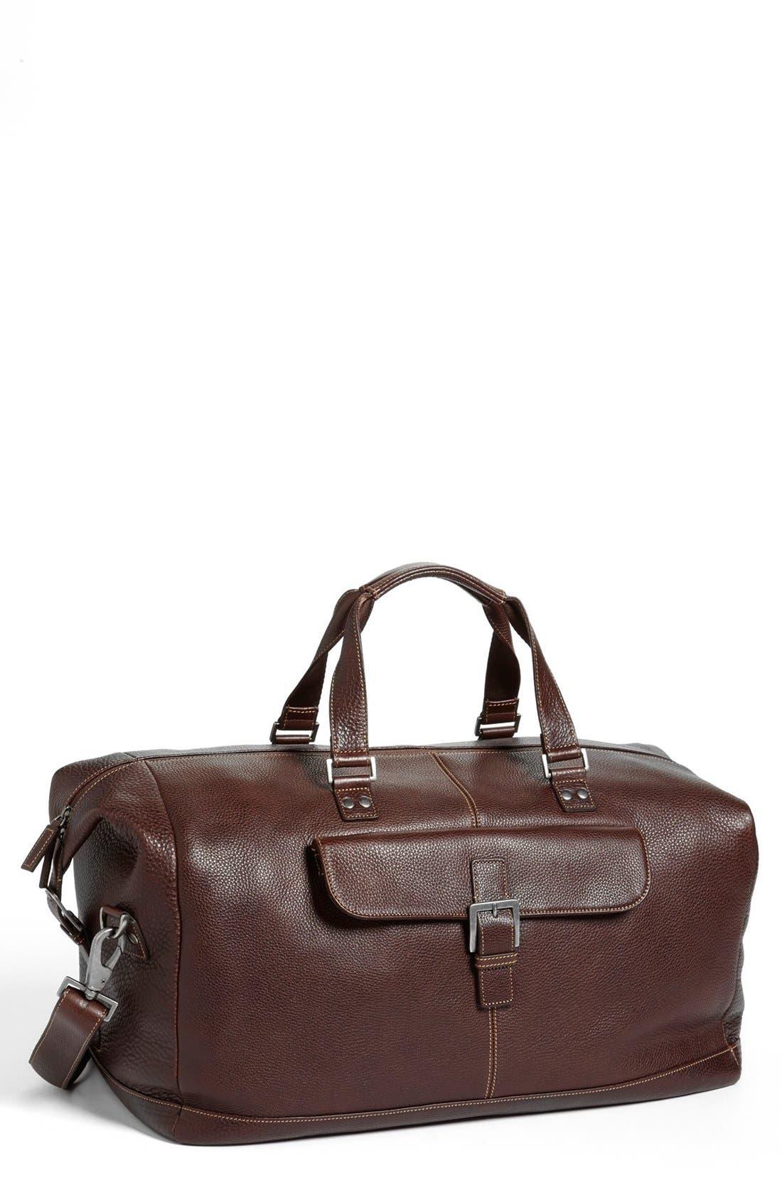 Tyler Leather Cargo Duffle Bag
