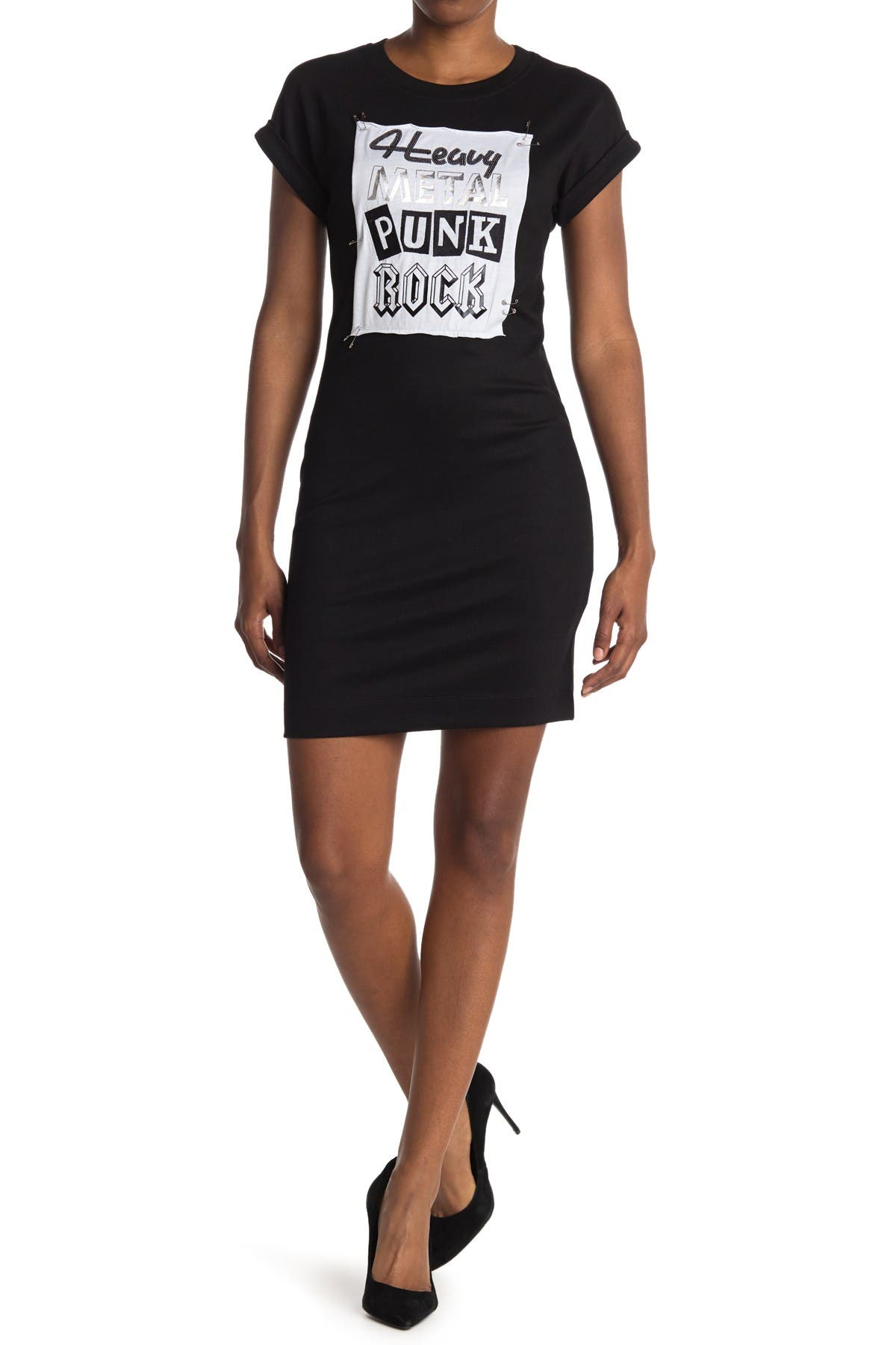 Image of LOVE Moschino Short Sleeve Dress With Front Graphic