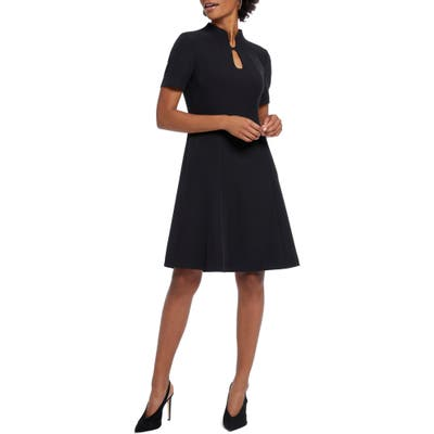 Nic+Zoe Leading Lady Fit & Flare Dress, Black