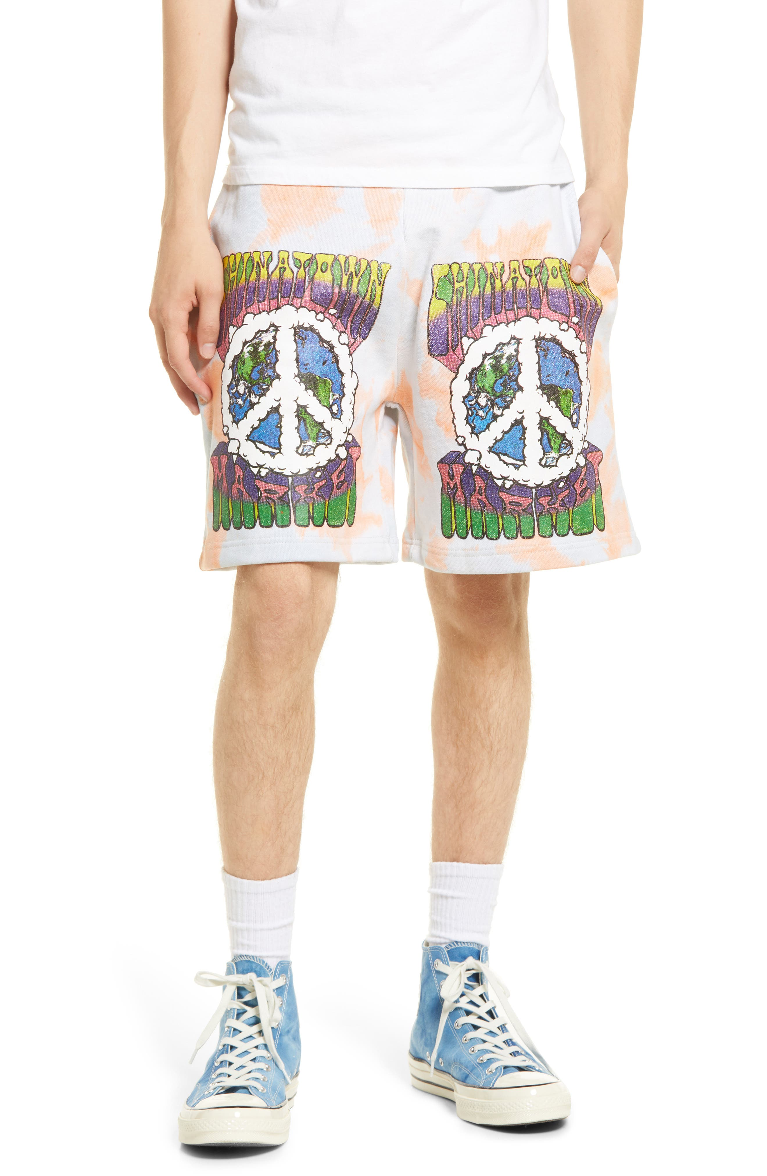 Men's Peace On Earth Tie Dye Shorts