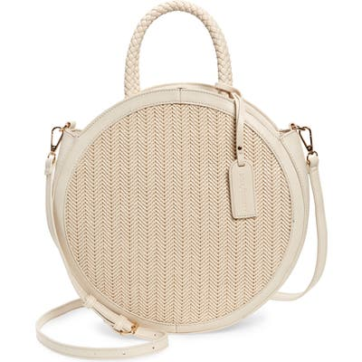 Sole Society Nikole Faux Leather Crossbody Bag - White