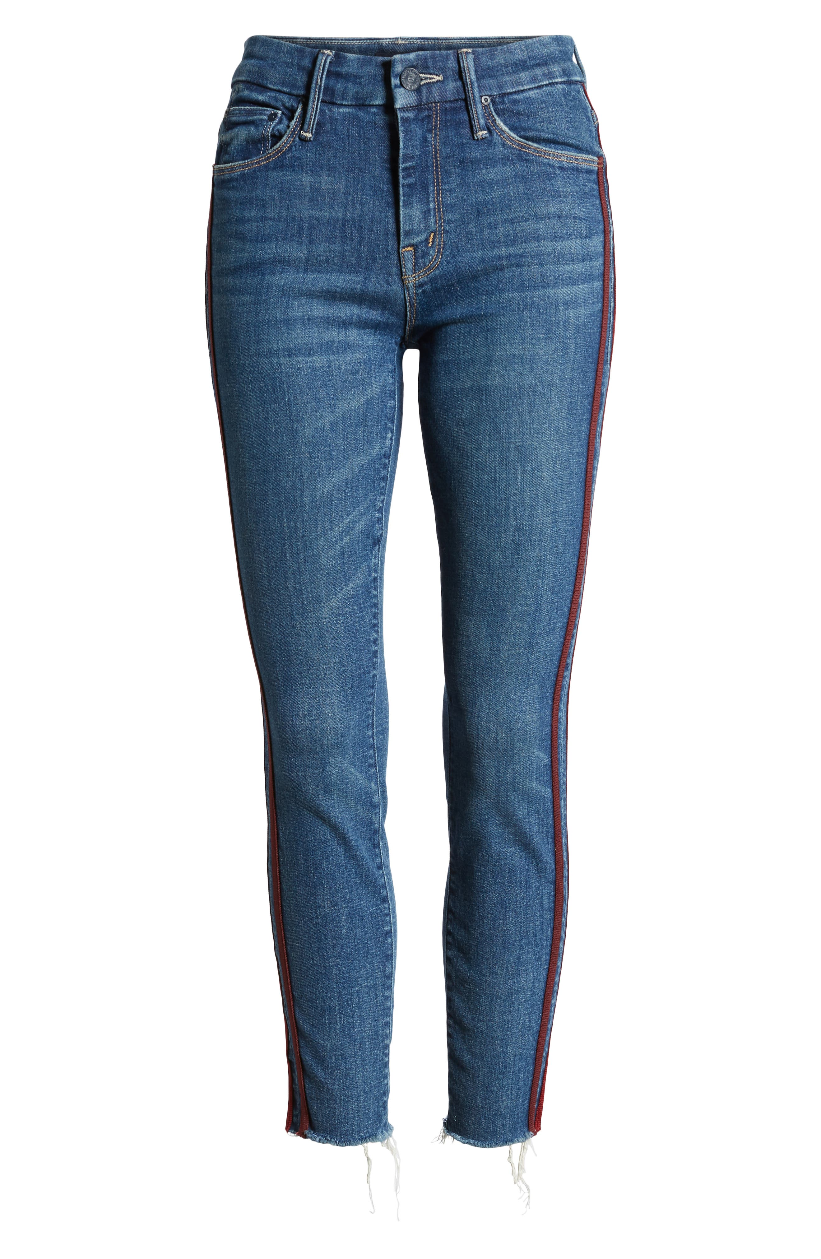 ,                             'The Looker' Frayed Ankle Jeans,                             Alternate thumbnail 13, color,                             420