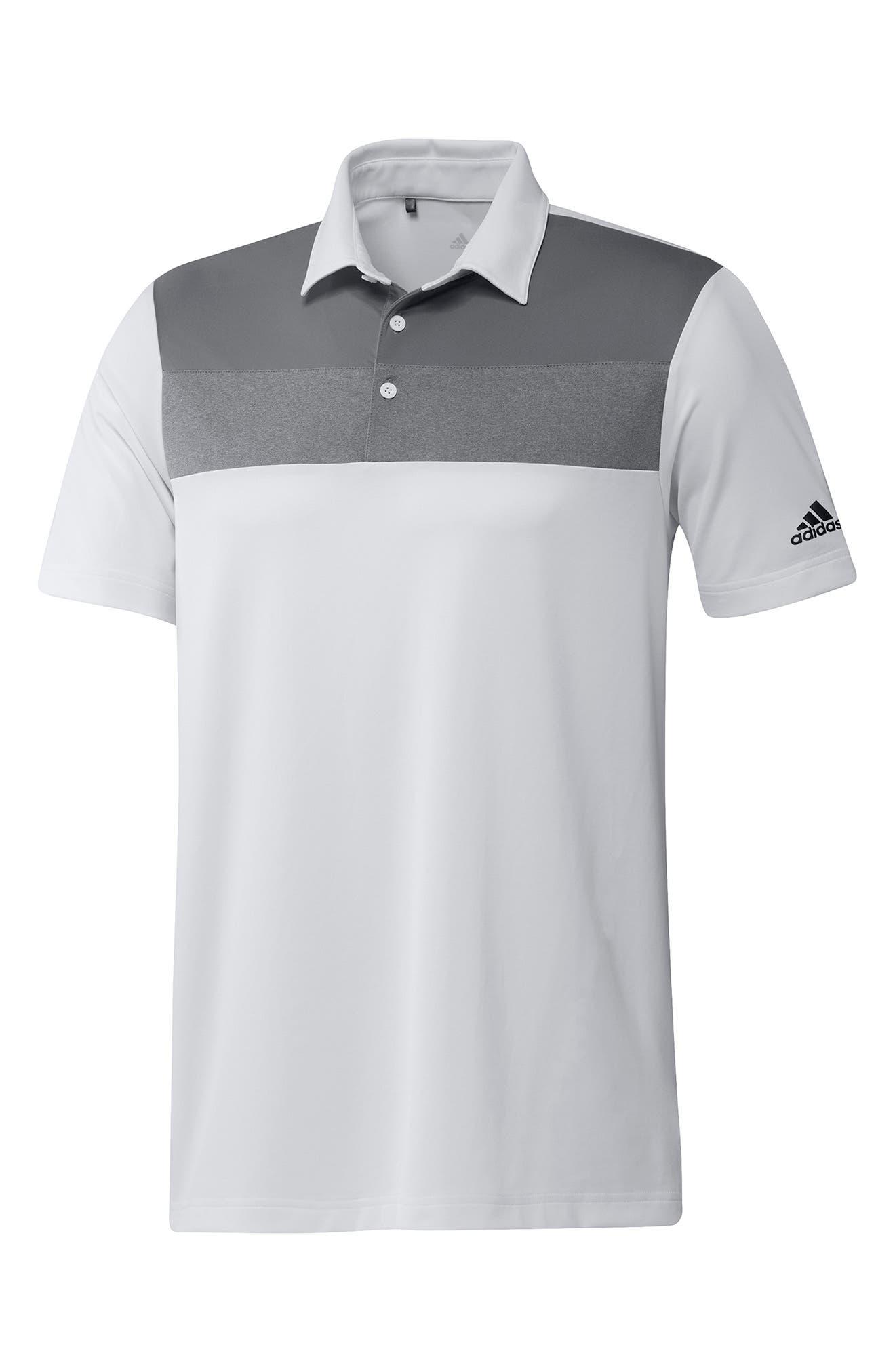 Men's Adidas Primegreen Colorblock Golf Polo